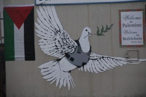 Friedentaube mit Weste