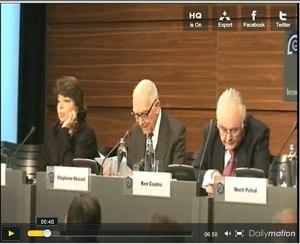 Stéphane Hessel bei der Eröffnung des Russeltribunals für Palästina