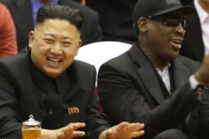 Kim Jong Un und Basketballstar Dennis Rodman