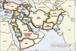 Geplante Aufteilung des Nahen Ostens