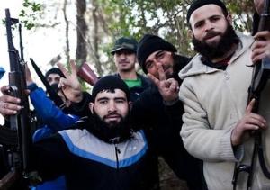 Dschihadisten in Siegerpose