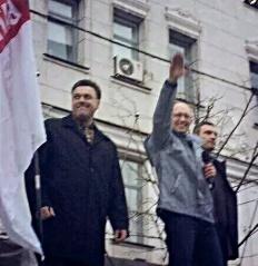 Der rechtsradikale Tjagnibok und Klitschko