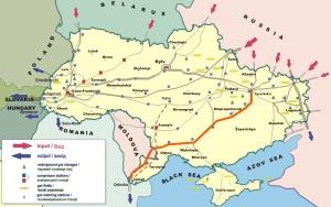 Ukraine Pipelines und Gasfelder