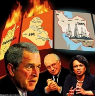 burning iraq