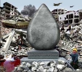 Kindertränen in Palästina
