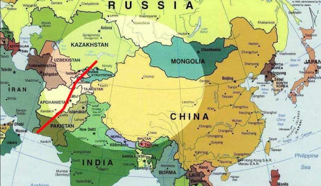 Asien Riegel ost west
